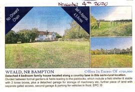 Long Paddock in Weald St for sale