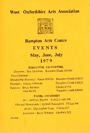 1979 Calendar June.Events Calendar For May June And July 1979 Bampton Community Archive