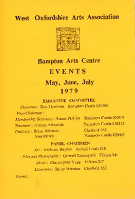 Events calendar for May, June and July 1979