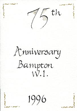 Bampton WI celebrate their 75th anniversary July 10th 1996