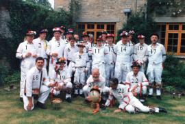 Group photo, Bampton Tradition Morris Men, 1997