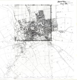 Map of Bampton 1989, revised 1990