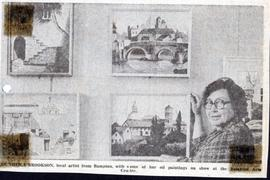 Sheila Brookson exhibits her oil painting in the Gallery 1980