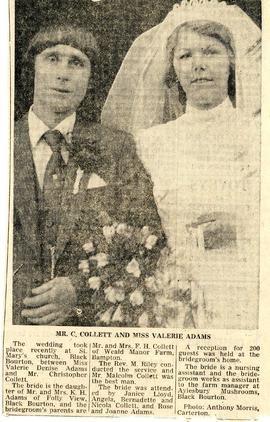 Valerie Denise Adams & Christopher Collett, wedding day 1981