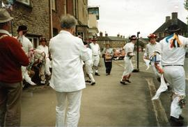 Bampton Traditional Morris Men outside The Talbot