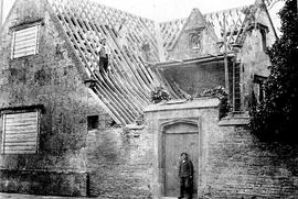 Re-roofing the Grammar School in 1910