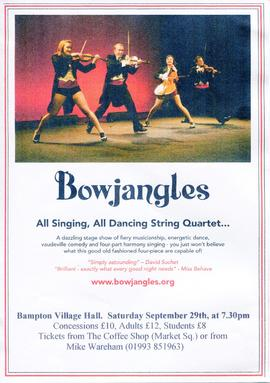 Bowjangles entertain in the Village Hall