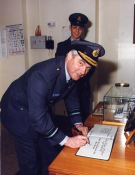 RAF Signal Station, Weald having annual inspection April 1993