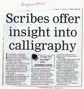 'Sonnets of Shakespeare' describes with calligraphy August 2002