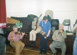 Bampton Traditional Morris Men's party 1999 plus a session in the Horse Shoe