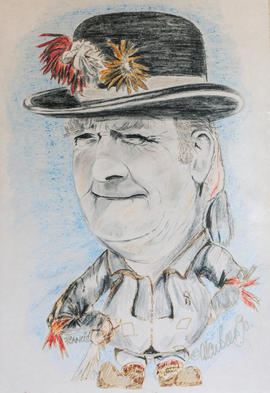 Drawing of Francis Shergold by Alan Beers