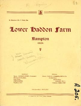 Sale catalogue Lower Haddon farm sale March 11th 1949