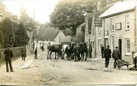 Horse Fair seen outside the Wheat Sheaf Inn in Bridge Street