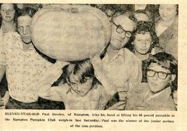 Pumpkin Club weigh in, junior section
