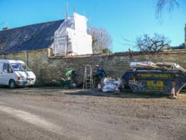 Wall in Church Close being repaired and new opening created February 17th 2016