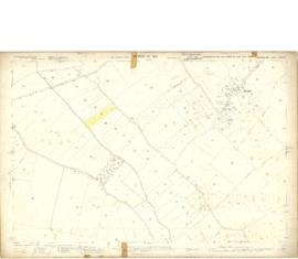 1913 map of Weald, west to Marsh Lane on east edge of Clanfield
