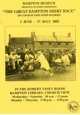 Poster for the Bampton Community Archive's first ever exhibition June-July 2002