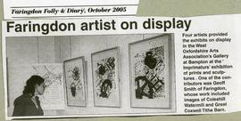 Four artists exhibit in the Gallery October 2005