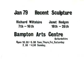 Sculptures by Richard Wiltshire and Janet Hedges January 1979