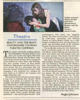 Oxfordshire Touring Theatre Company with 'Beauty and The Beast' 2005