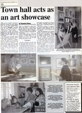 Town Hall acts as an Art showcase November 1997
