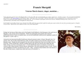 Francis George Shergold in 2002 & his obituary in the Guardian January 2009