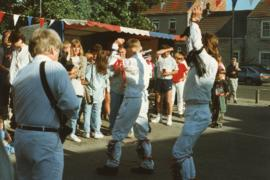 Bampton Traditional Morris Men dance at Tickhill in 1985