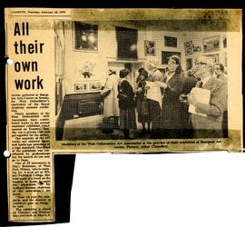 All their own work - members' exhibition February 1979