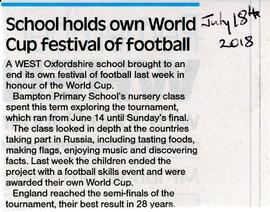 Bampton School used the World Cup to widen their learning