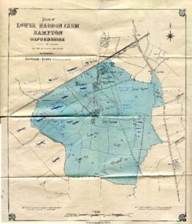 Map with sale of Lower Haddon Farm March 1949