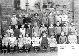 Vera Elward aged 8 year old with her class c1930