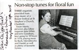 Non-stop tunes for floral fun in Clanfield