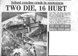 Wood Green school bus crash Feb 1st 1972