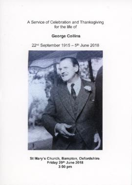 Funeral of George Collins June 29th 2018