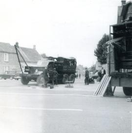 Building Bampton Fair in the Market Square 1965