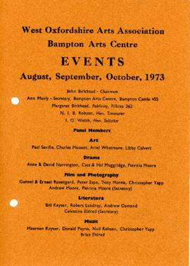 Events at WOAA August, September and October 1973