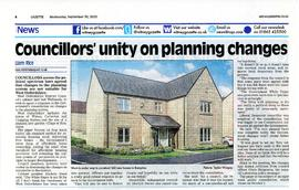 WODC agree the government's new proposals on planning would not be right for West Oxfordshire