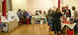 Craft sale in the Village Hall the night the Christmas Tree lights were switched on 2014