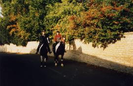 Horse riders in Landells about 1990