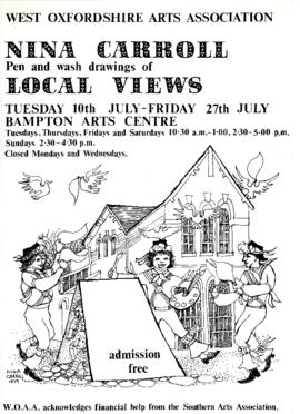 Nina Carroll's pen and wash drawing of local views July 1979