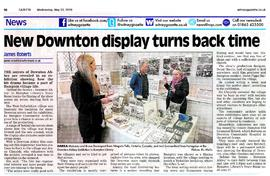 Bampton Community Archive put on an exhibition of the filming of Downton Abbey in Bampton