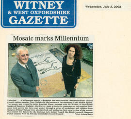 A Mosaic for The Millennium by the Town Hall July 2002