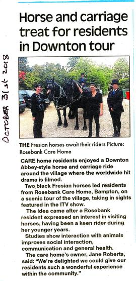 Open top carriage ride for residents of Rosebank Care Home in High Street