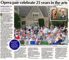 Jeremy Gray & Gilly French celebrate 25 years of Bampton Opera
