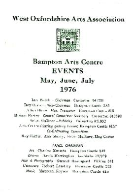 Events catalogue for May, June and July 1976