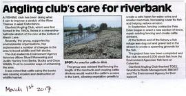 Clanfield Angling Club protect the Thames bank from erosion by cattle