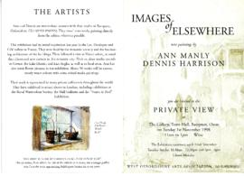 'Images of Elsewhere' by Ann Manly and Dennis Harrison November 1998