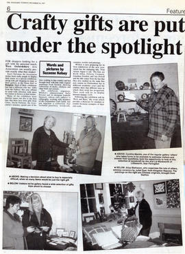December 1997 Members display works ideal as Christmas presents
