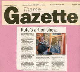 Kate Watkins' art on show February 2003