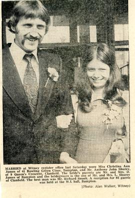 Christina James married Anthony Shurey 1974